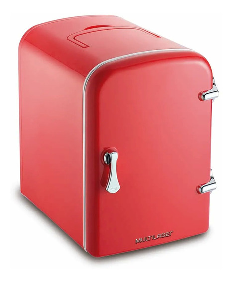 Geladeira frigobar Multilaser TV007 vermelha 4L 12V/110V/220V