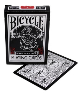 Baralho Bicycle Black Tiger Ellusionist Poker Pôquer Mágica