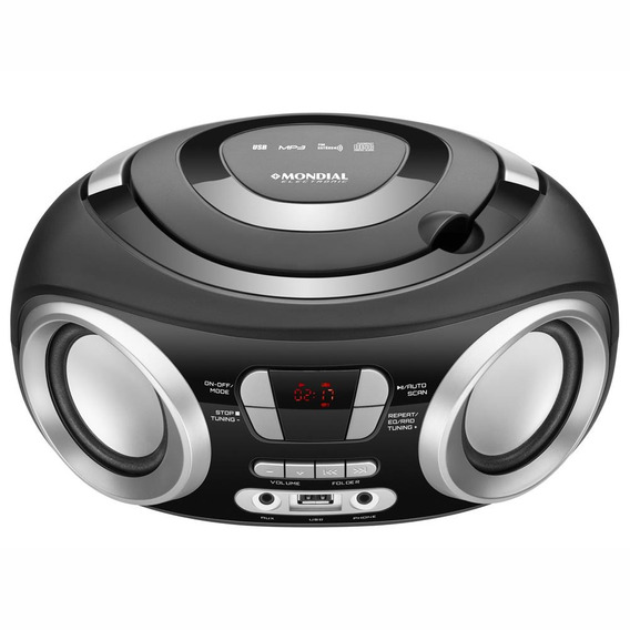 Radio Boombox Portatil Nbx13 Usb Cd Player Fm Digital Bivolt