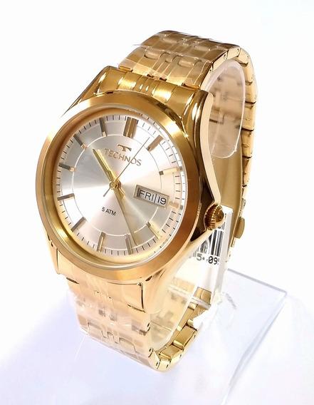 Relógio Dourado Masculino Automático Technos 82050c/4k.