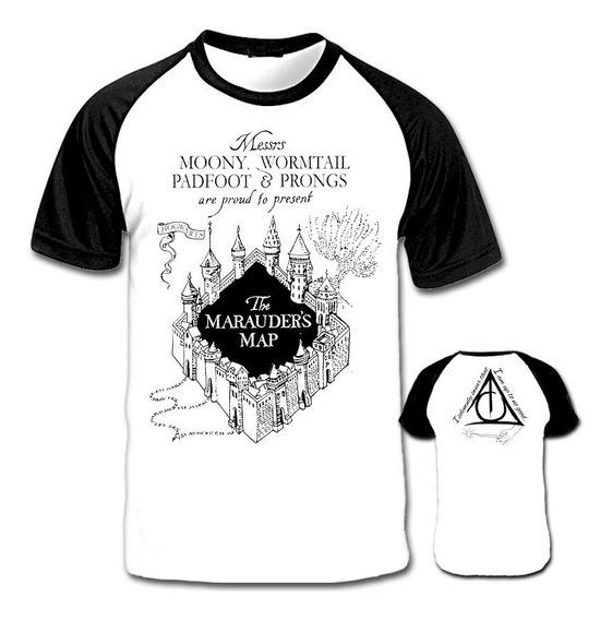 Camiseta Mapa Do Maroto Harry Potter E O Prisioneiro