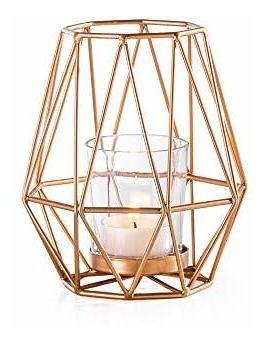 Imagen 1 de 5 de Candelabro De Metal Con Deco De Diamantes Torre Y Tagus, Peq
