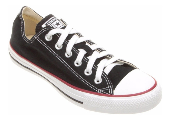 Tênis Converse All Star Preto Ct As Core Ox Cano Baixo Rock