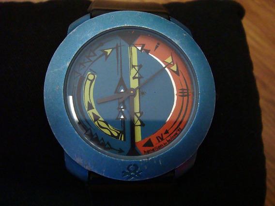 Reloj Benetton By Bulova Caja Azul. Colección 90s.
