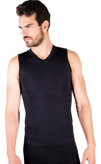 Camiseta Faja Seamless Hombre Cuello V Sin Mangas Mod.4006