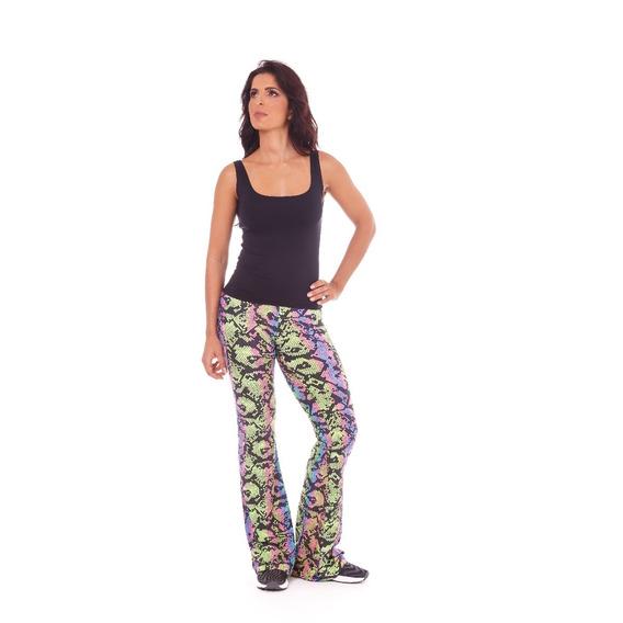 Calça Flare Trend Estampado Cobra Fluor - Lm7 Fitness Wear