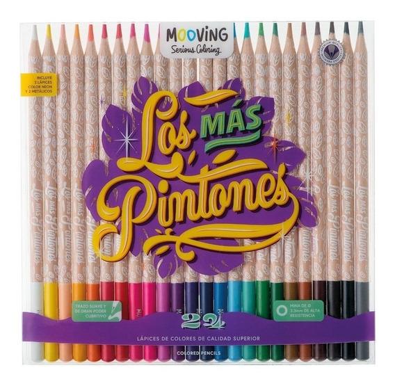 Lapices De Colores Mooving X24 Calidad Superior Mina 3,3mm