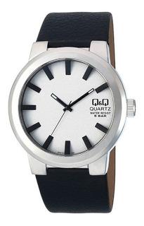 Reloj Q&q By Citizen Q740j311y Cuero 50m Para Hombre Liniers