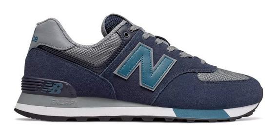 Tenis De Hombre New Zapatillas Balance Ml 574 Azul