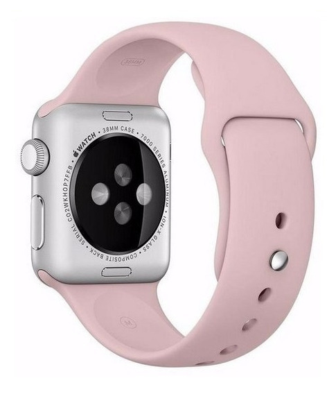 Pulseira Apple Watch 38mm 40mm Rose Silicone Oferta