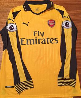 Camisa Arsenal 2017/18 Mangas Longas Alexis Premier League