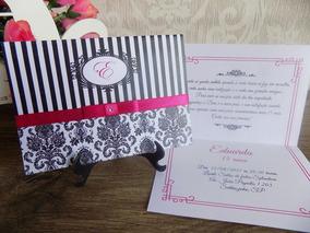 Convites Aniversario 15 Anos Debutante (80un)