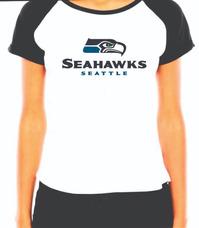0b1cbd886 Camiseta Seattle Seahawks Feminina - Camisetas no Mercado Livre Brasil