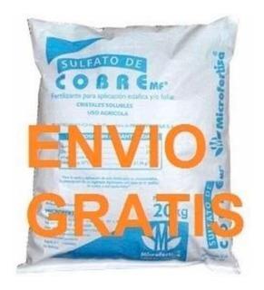 2 Kg Sulfato Cobre Fungicida Alguicida Piscinas Envío Gratis