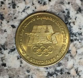 Medalla Token Deporte Olimpicos 1984 Los Angeles