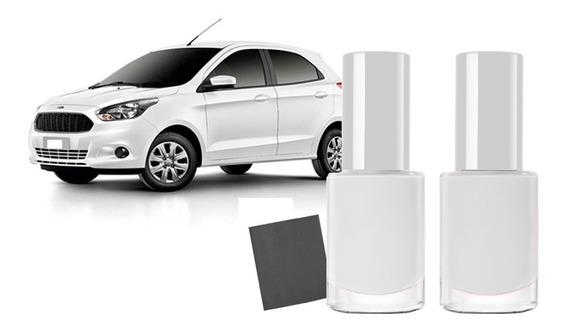 Tinta Reparo Tira Risco Automotiva Ford Ka Branco Ártico