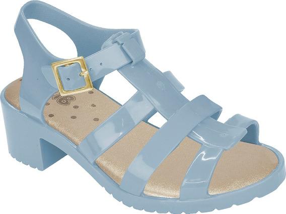 Sandália Salto Rasteirinha Plástico Infantil Barato 626205