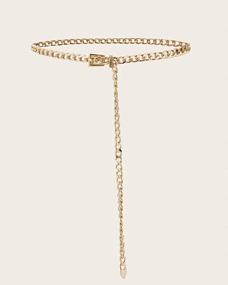 Cinturón De Cadena Dorado
