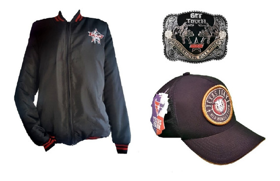 Kit Boné Original Texas Farm + Jaqueta Pbr + Fivela Country