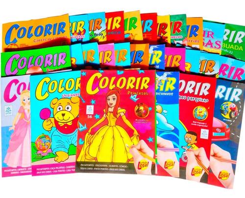 100 Revistas Livrinhos Colorir Infantil Atividades Pintar