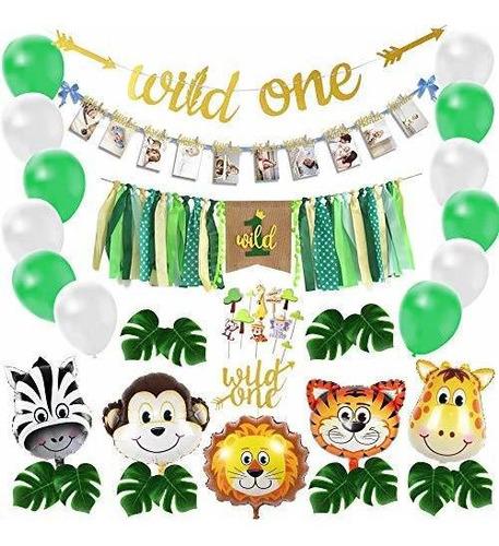 Wild One - Kit De Decoración De Cumpleaños, Juego De Globos