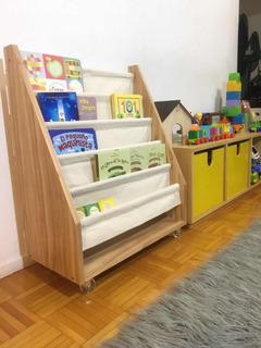 Biblioteca De Tela Infantil Niños Montessori Con Ruedas