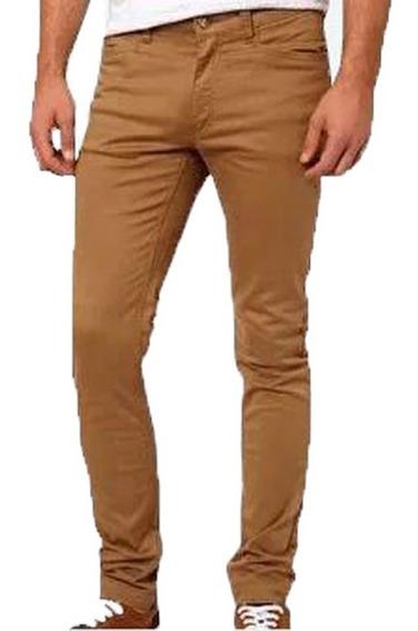 Pantalon Chupin Gabardina Elastizado Hombre Jean 10 Colores!
