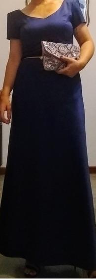 Vestido Importado Azul De Fiesta