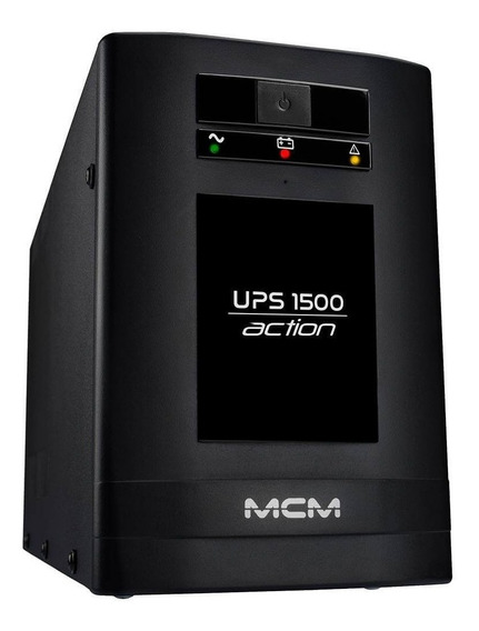 Nobreak Mcm 1500va Ups1500 Action 3.1, 6 Tomadas Bivolt/115v