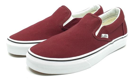 Vans Tenis Vans Slip On Skate Shoe Nuevos Guindo Unisex