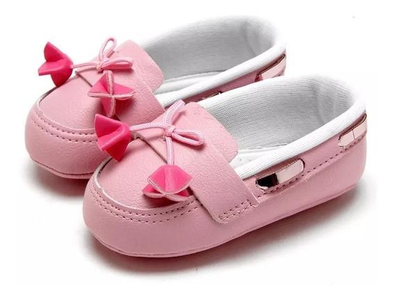 Sapato Infantil Mocassim Pimpolho Rosa Claro Meninas