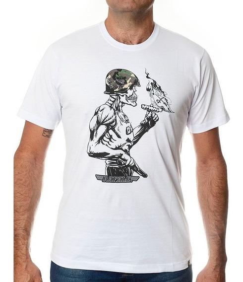 Camiseta Militar Caveira Rafale Skull Soldier