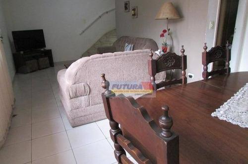 Sobrado Com 3 Dormitórios À Venda, 155 M² Por R$ 500.000,00 - Vila Valença - São Vicente/sp - So0348