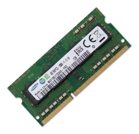Memória Notebook 4gb Ddr3l 1600mhz 1rx8 Samsung M471b5173qh0