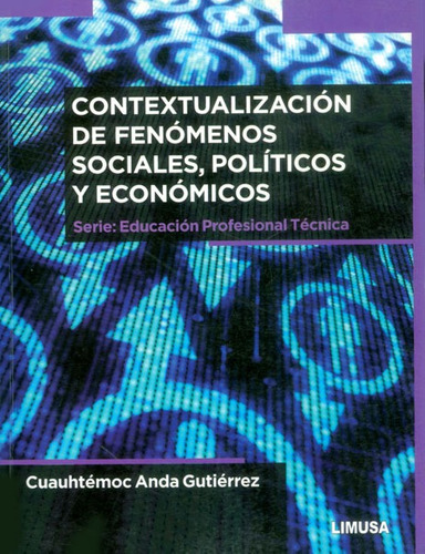 Imagen 1 de 2 de Contextualización De Fenómenos Sociales, Políticos Y Económi