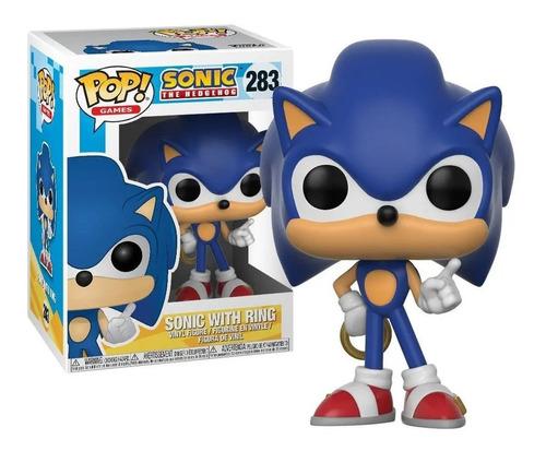 Imagem 1 de 2 de Boneco Funko Pop Sonic Hedgehog Com Anel Argola 283 Original