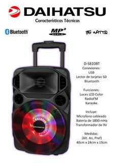 Parlante Portatil Bluetooth Daihatsu D-s810 Impacto Online
