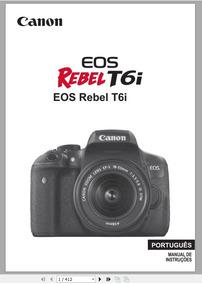 Manual Em Português Canon Eos Rebel T6i