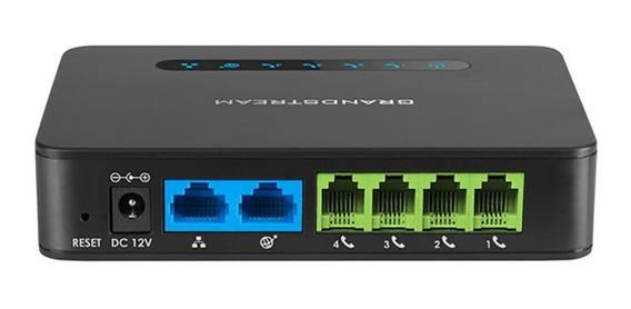 Ata Ht814 4 Portas Fxs Grandstream Voip 10/100/1000 Original Lacrado C/ Garantia