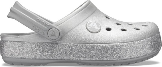 Crocs Crocsband Glitter Clog K Silver
