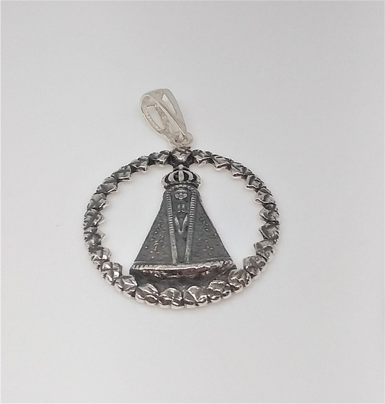 Pingente Nossa Senhora Aparecida . Prata (925) + Brinde