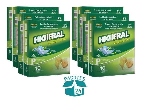 Fralda Geriátrica Higifral Noite E Dia - 24 Pacotes