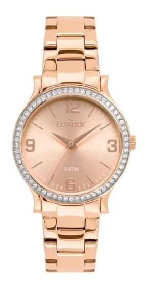 Relógio Condor Eterna Feminino Rosé Co2039bp/1j