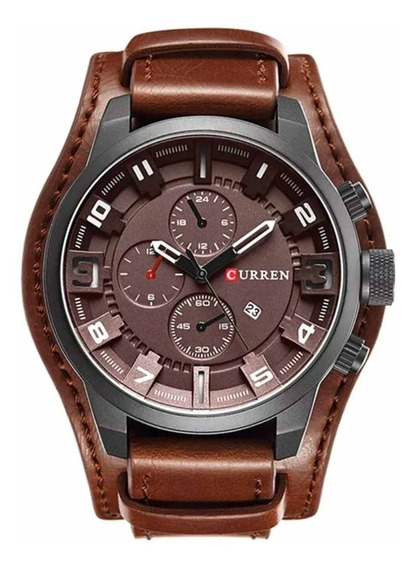 Relógio Masculino Curren 8225 Original Couro C/ Garantia
