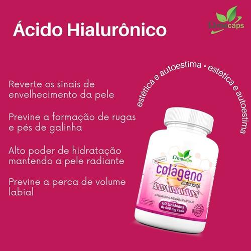 Colágeno Hidrolisado + Ácido Hialurônico Omecaps