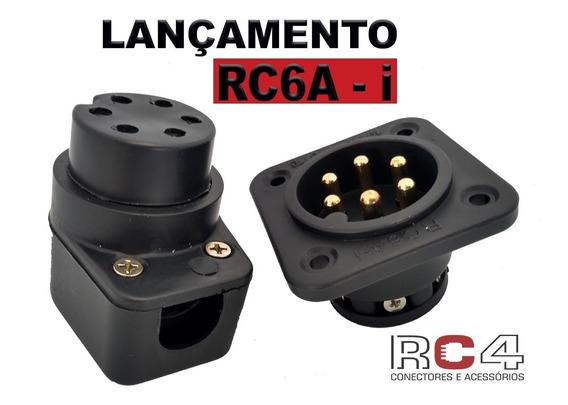 Pac Com 4 Pares Do Conector Rc6a-i (áudio) 6 Polos/3 Vias