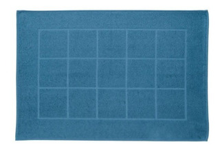 Piso Baño Lucca Azul Antideslizante 46x70 Cms / Mallbits
