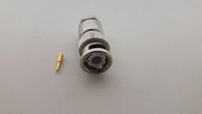 Conector Bnc Reto Macho 50 Ohms (4mm) Prensa Cabo