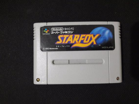 Cartucho Starfox Para Super Nintendo Original Fita Fmc Jogo