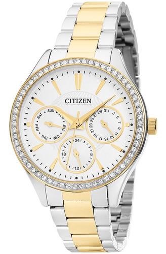 Relógio Feminino Citizen Bicolor Tz28404b